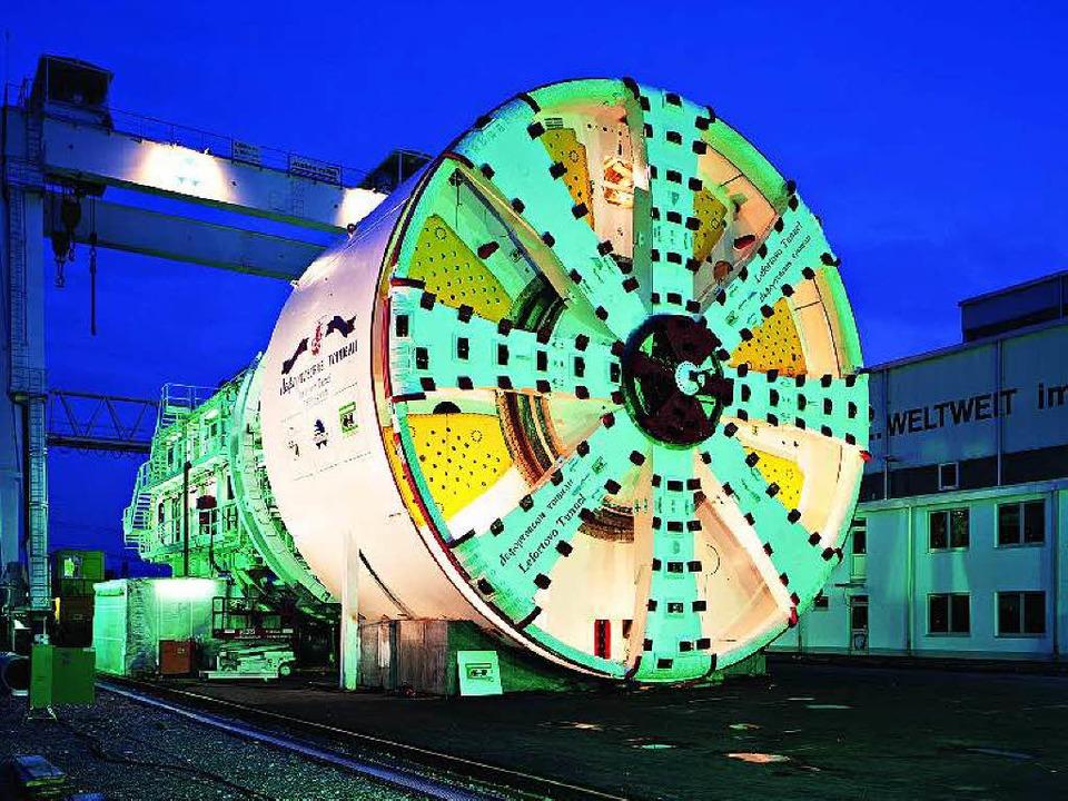 Für jeden Tunnelbau braucht es die pas...nelbohrmaschine S164 von Herrenknecht.  | Foto: BZ