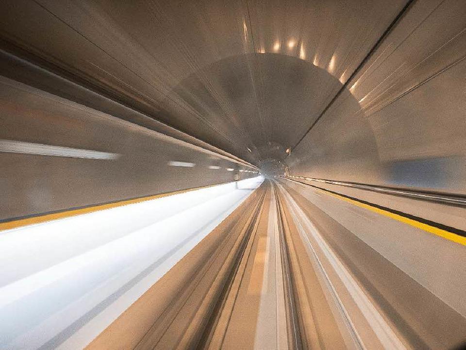 Der neue Tunnel unterm Gotthard.    Foto: Alp Transit