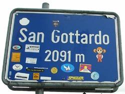 Der sagenumwobenste Alpen�bergang ist der Gotthard