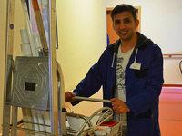 Afghanischer Fl�chtling arbeitet im Bundesfreiwilligendienst