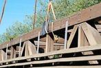 Fotos: So wurde die Holzbr�cke in L�rrach zerlegt