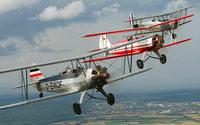 Samstag und Sonntag nachmittags Flugshows auf dem Flugplatz in Sundheim