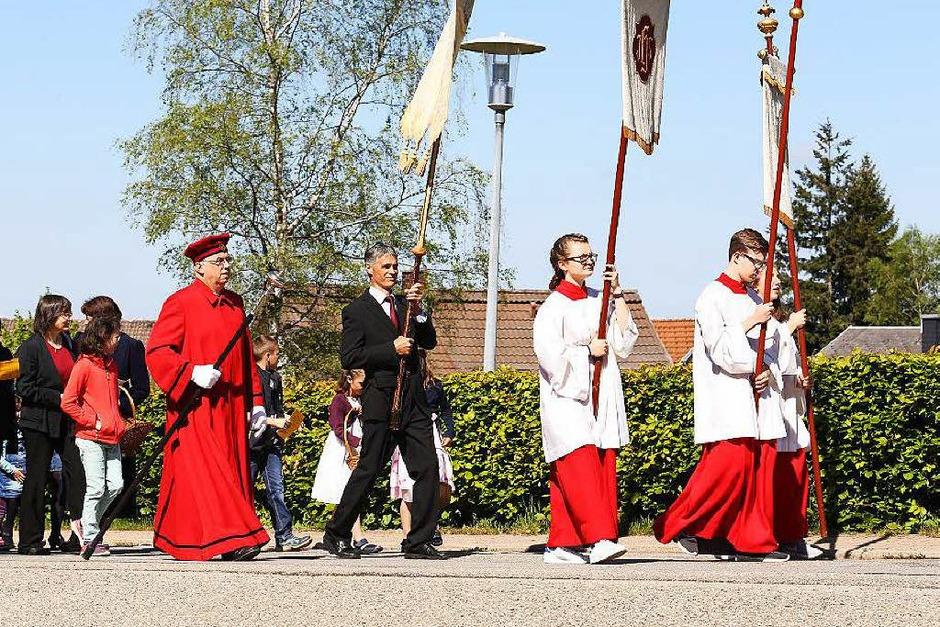 Prozession in St. Märgen (Foto: Heinrich Fehrenbach)