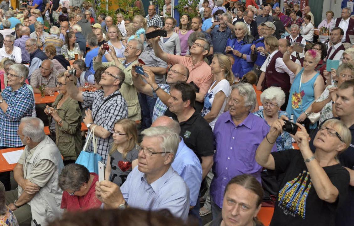 Riesig war das Interesse der Bevölkeru...rk Haltingen platzte aus allen Nähten.  | Foto: Jochen Fillisch