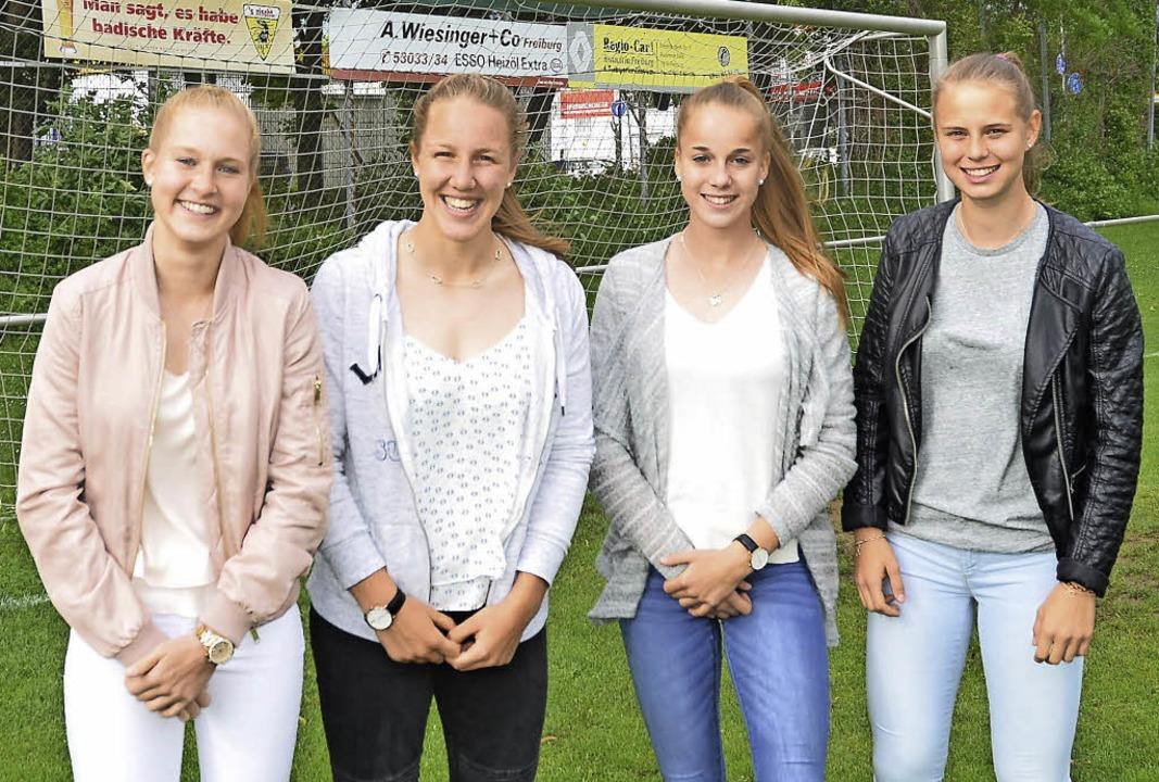 Vier U-17-Europameisterinnen spielen m...Ziegler, Giulia Gwinn und Klara Bühl.   | Foto: Sandra hennig