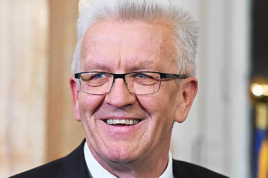 Winfried Kretschmann: FÜR Kretschmann spricht,  dass er mit seiner uneitlen und pragmatischen Art zu den beliebtesten Politikern der  Republik zählt. GEGEN ihn spricht, dass er gerade erst wiedergewählt worden ist. (Foto: dpa)