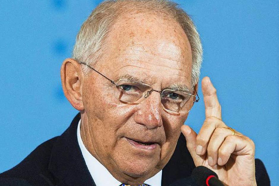 Wolfgang Schäuble: FÜR den Finanzminister spricht, dass er seit mehr als vier Jahrzehnten für die CDU im Bundestag sitzt und längst eine graue Eminenz der Berliner Politik ist. GEGEN den Südbadener  spricht allenfalls sein Alter, er ist 74. (Foto: AFP)