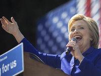 Hillary Clinton ist kurz vor dem Ziel