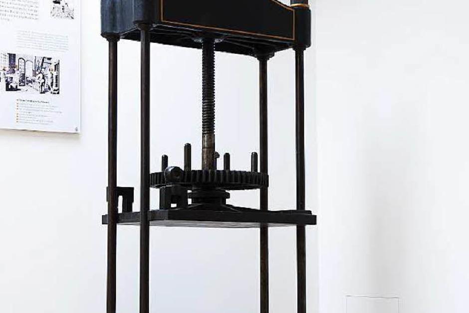 Eine alte Buchdruckpresse (Foto: Michael Wissing)