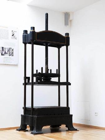 Eine alte Buchdruckpresse