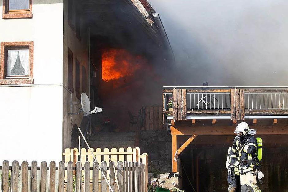 Brand auf dem Stabhalterhof in Yach (Foto: Daniel Fleig)