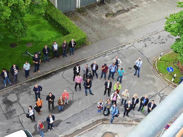Richtfest in der Freiburger Straße in Denzlingen. Dort entstehen 15 Sozialwohnungen.