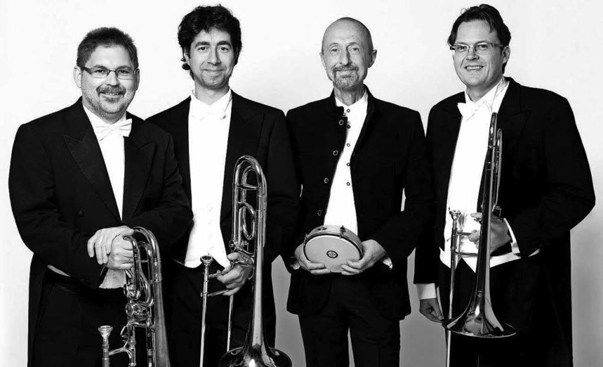 Das Quartett Percussion Posaune Leipzig eröffnet am Donnerstag den Musiksommer.  | Foto: Promo