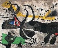 Arbeiten von Joan Mir� in der Kunsthalle Messmer in Riegel