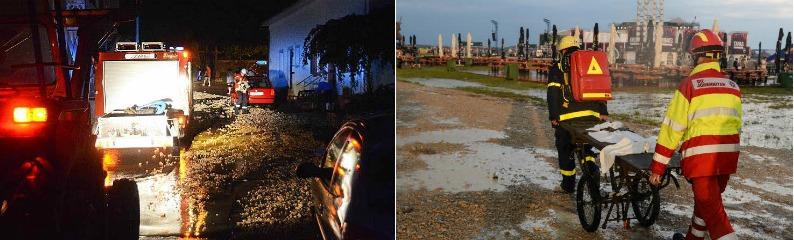 Unwetter im S�dwesten - hunderte Keller �berflutet, Southside-Festival abgebrochen