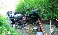 Lahr: Traktor begr�bt Mann unter sich