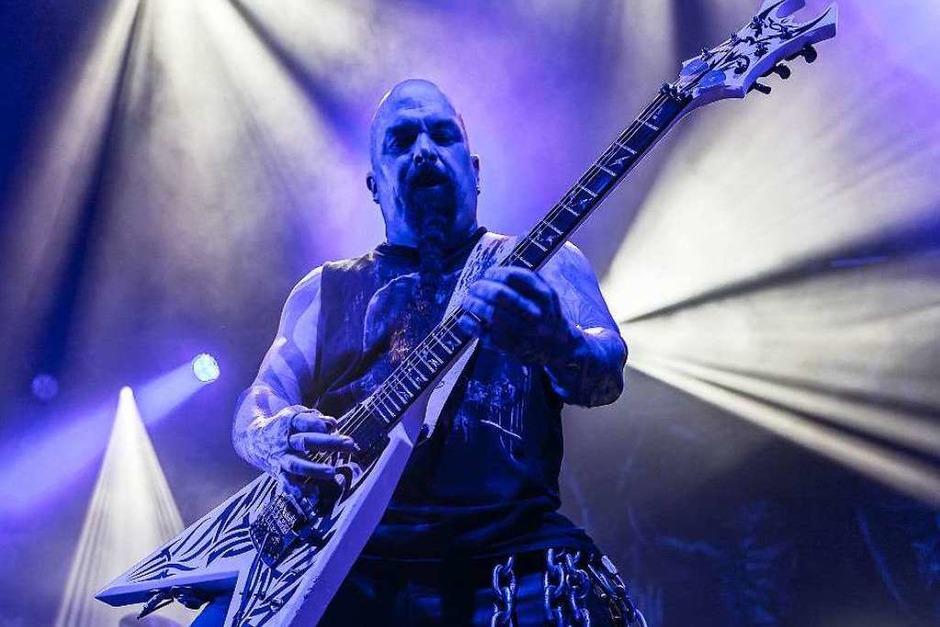 Slayer - die Großväter des Thrash-Metal spielen in Pratteln bei Basel. (Foto: Carlotta Huber)