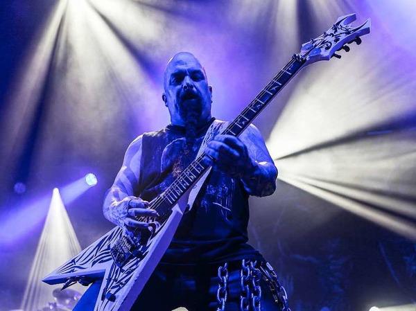 Slayer - die Großväter des Thrash-Metal spielen in Pratteln bei Basel.