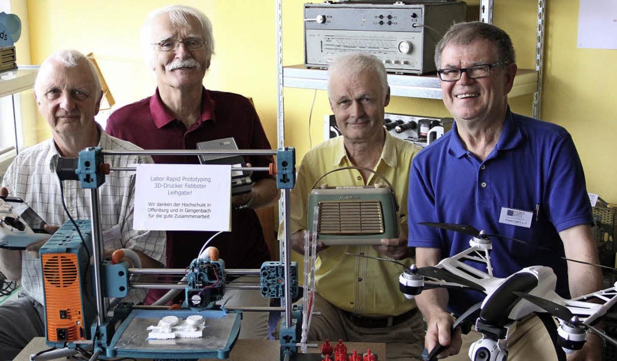 """Ihre Vision ist das Technische Zukunft... des Vereins """"Temopolis"""".     Foto: judith REinbold"""