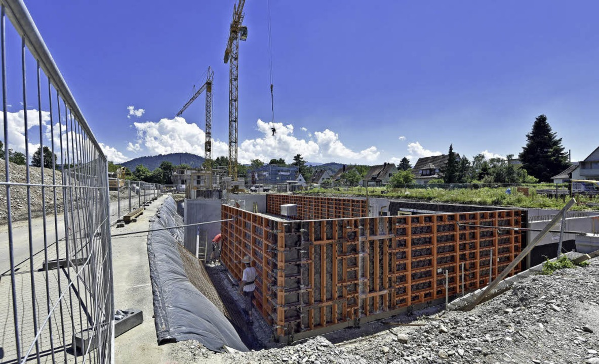 Es geht voran im Neubaugebiet Gutleutmatten.   | Foto: Michael Bamberger