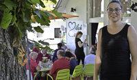 Milchcaf� in S�lden hat jetzt eine Terrasse