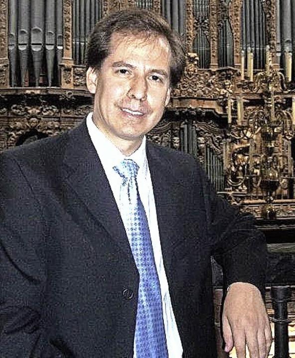 Organist Jesús López Moreno aus Mexico-City.    Foto: veranstalter