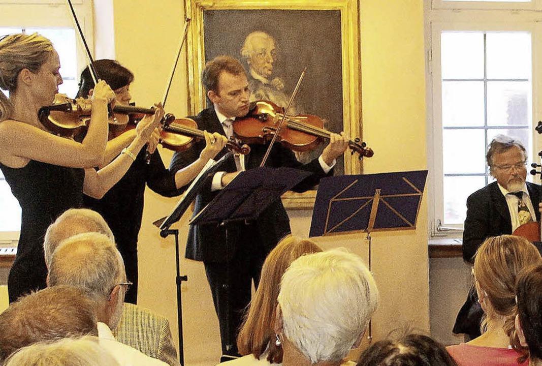 Ein Teil des Mainzer Kammerorchesters bei seinem Konzert   | Foto: Sandra Decoux-Kone