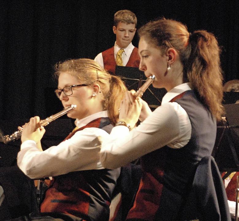Der Musikverein Brombach geht neue Weg...ild ist beim Jahreskonzert entstanden.  | Foto: Maja Tolsdorf