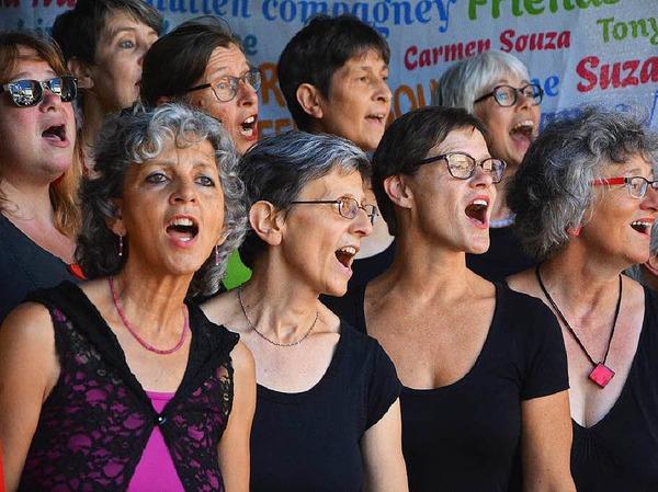 Lörrach singt - und wie: Singbegeisterte aus der ganzen Region stimmten mit ein.