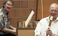 Reihe: Musik im Kloster. Titel: Händel! Bach! Zwei Sonaten für Flöte und Cembalo (Georg Friedrich Händel) und zwei Orgelwerke (Johann Sebastian Bach). Mit Albrecht Barth (Blockflöte) und Dieter Lämmlin (Orgel, Cembalo) in Stühlingen