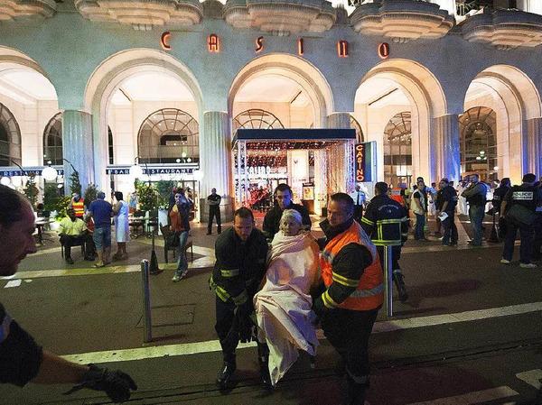 Verwundete in Nizza
