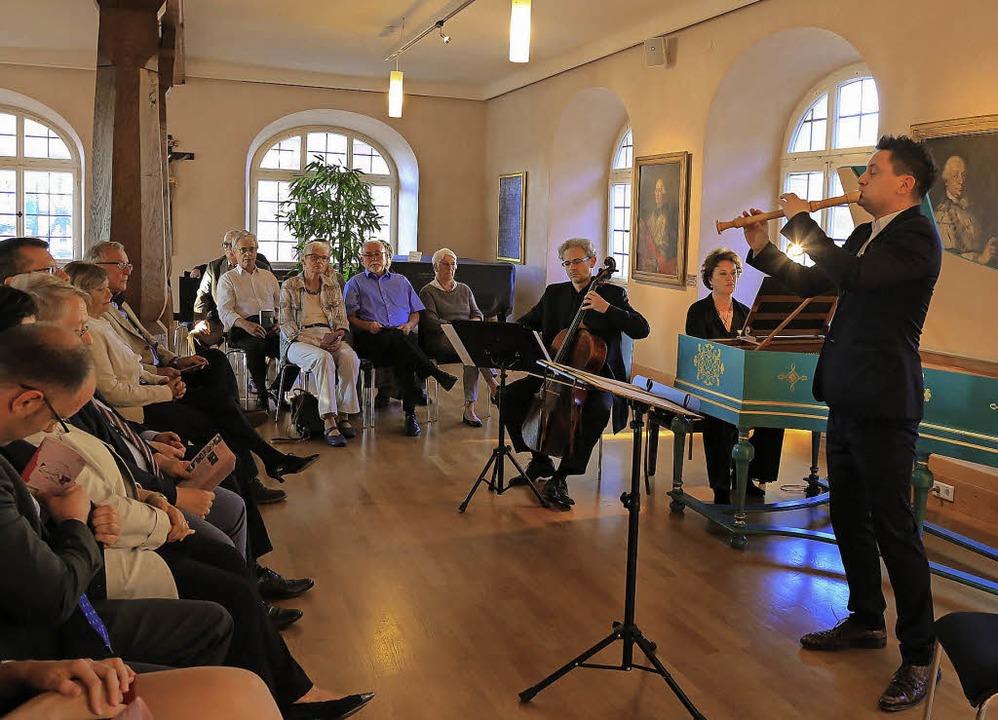 Maurice Steger, die Cembalistin Irene ...athauses den Ettenheimer Musiksommer.   | Foto: Sandra Decoux-Kone