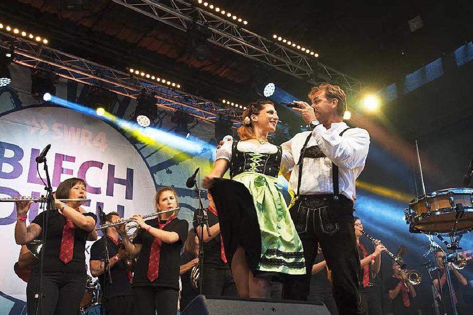 Die Stadtmusi Heroes sorgten mit der Schwarzwaldmarie für Stimmung. (Foto: Volker M?nch)