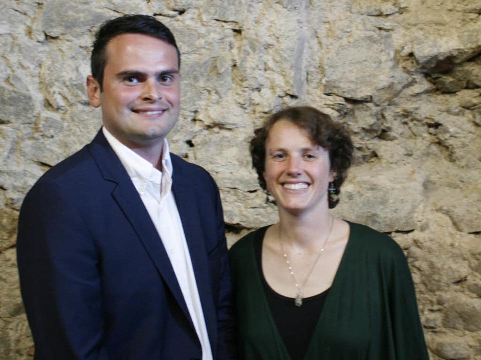 Adrian Hurrle und Marianne Schäfer von der FDP  | Foto: Jonas Hirt