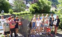 Kinderkunst am Schwanenweiher