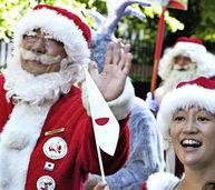 150 Weihnachtsm�nner treffen sich in Kopenhagen zum Gipfel
