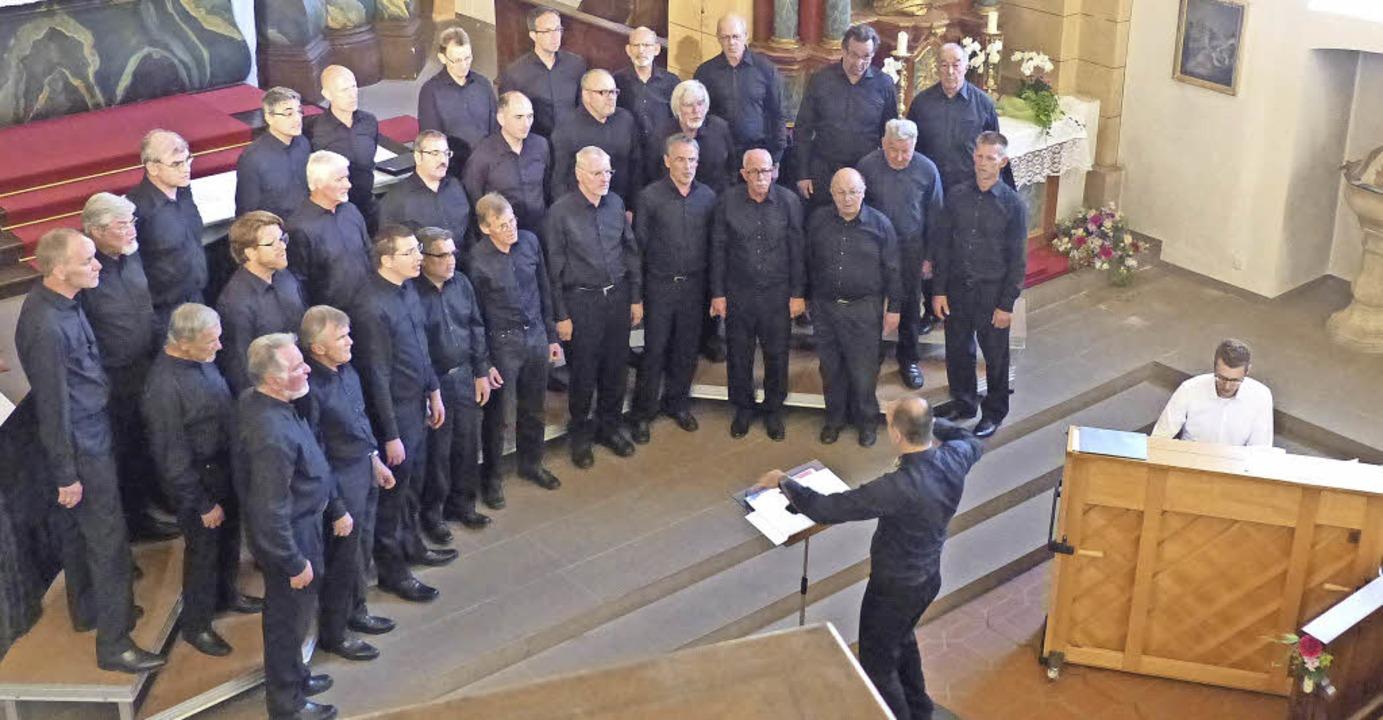Geistlicher Teil des Konzerts mit Mich...igent) und Felix Ketterer (am Klavier)  | Foto: Barbara Odrich-Rees