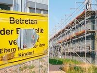 224 Fl�chtlingscontainer stehen leer - wegen baulicher M�ngel