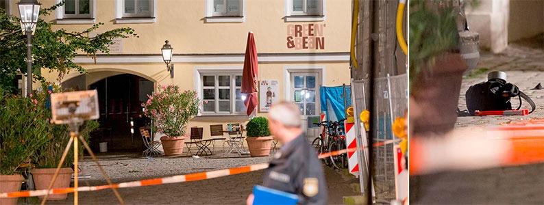 Anschlag in Ansbach: 27-J�hriger z�ndet Sprengsatz vor Musikfestival