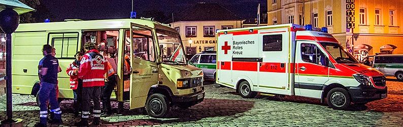Zw�lf Verletzte bei Bombenexplosion in Ansbach - Minister vermutet Selbstmordanschlag