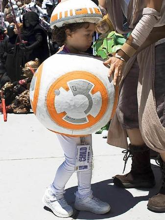 BB8, der kleine Druide aus dem siebten Star-Wars-Film, war auch dabei.