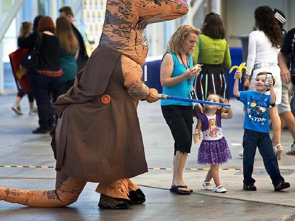 Bunt, schrill, gruselig: So haben sich die Fans für die Comic-Con 2016 in Schale geworfen.