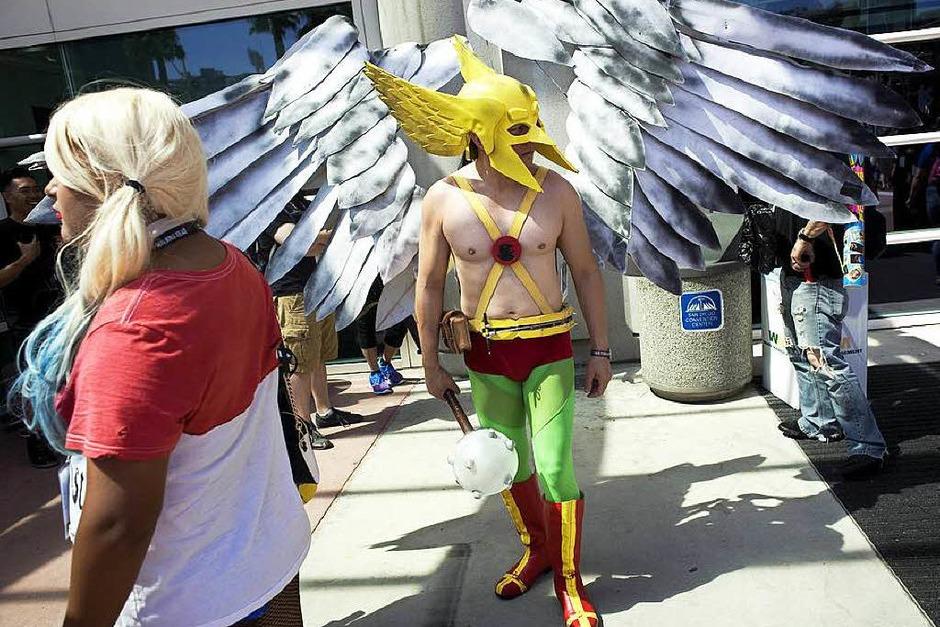 Bunt, schrill, gruselig: So haben sich die Fans für die Comic-Con 2016 in Schale geworfen. (Foto: dpa)