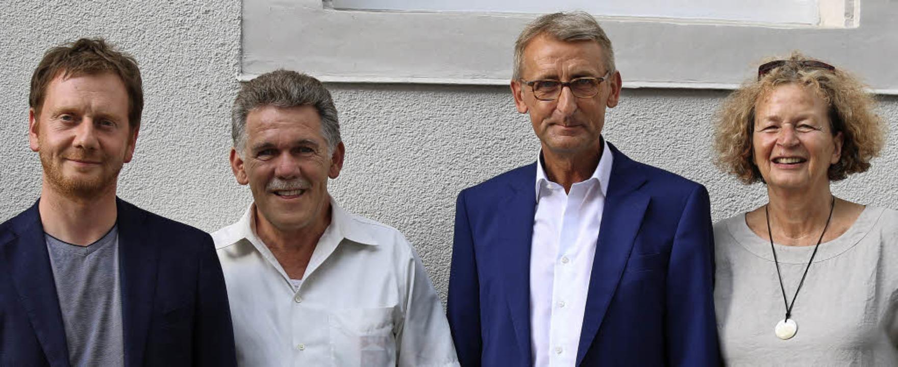 Die Bundestagsabgeordneten Michael Kre...n  Xaver Glattacker und Petra Höfler.   | Foto: Katharina Bartsch