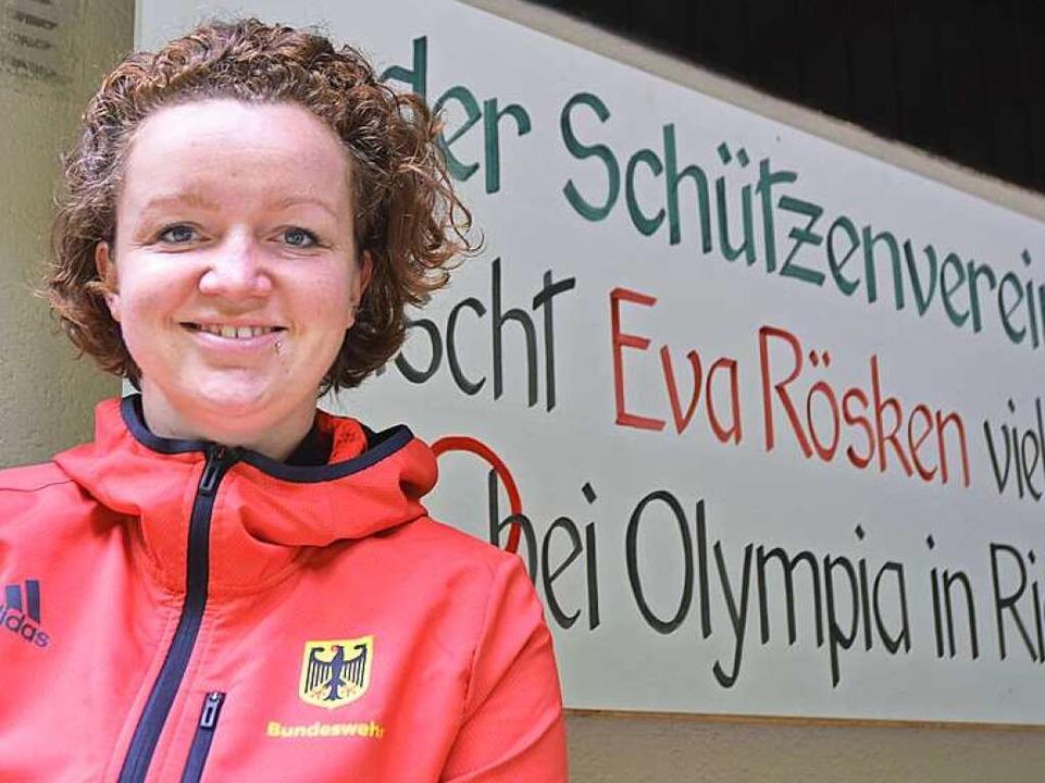 Auch der Schützenverein Münstertal ste...er Eva Rösken vor ihrem Olympia-Debüt.  | Foto: Matthias Kaufhold