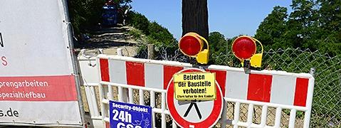 Bahn-Hang in St. Georgen rutscht auch s�dlich ab