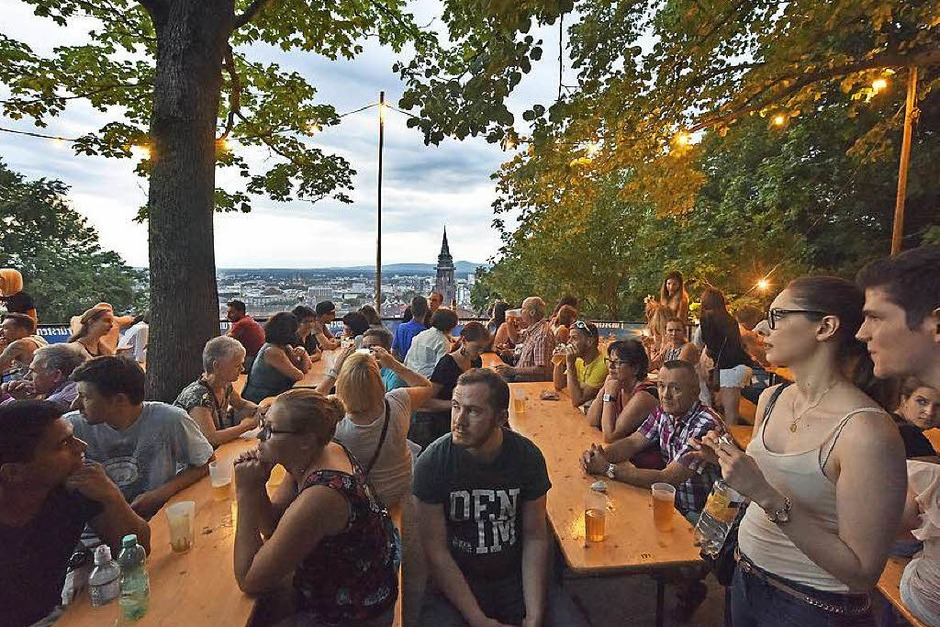 Menschenmassen beim Schlossbergfest. (Foto: Michael Bamberger)