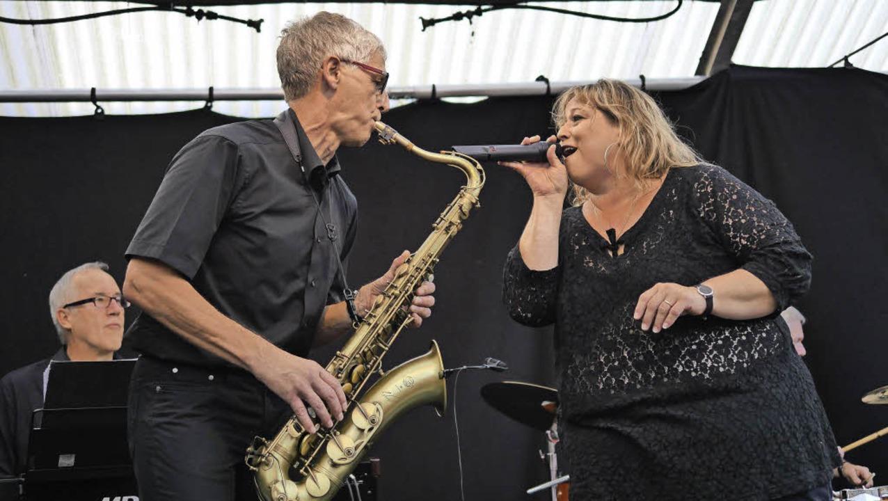 Just Jazz: Werner Thoren aus Steinen a...as dem Publikum bestens gefallen hat.   | Foto: Martina David-Wenk