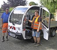 G�rtnern mit Elektrofahrzeug