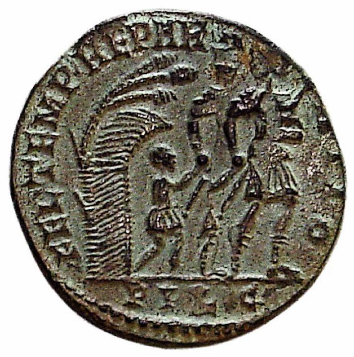 Diese römische Münze fand Paul Reinle 1968 in seinem Garten.    Foto: privat